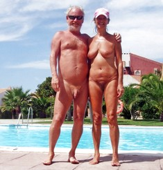 Grandpas and grannies nudists on the..