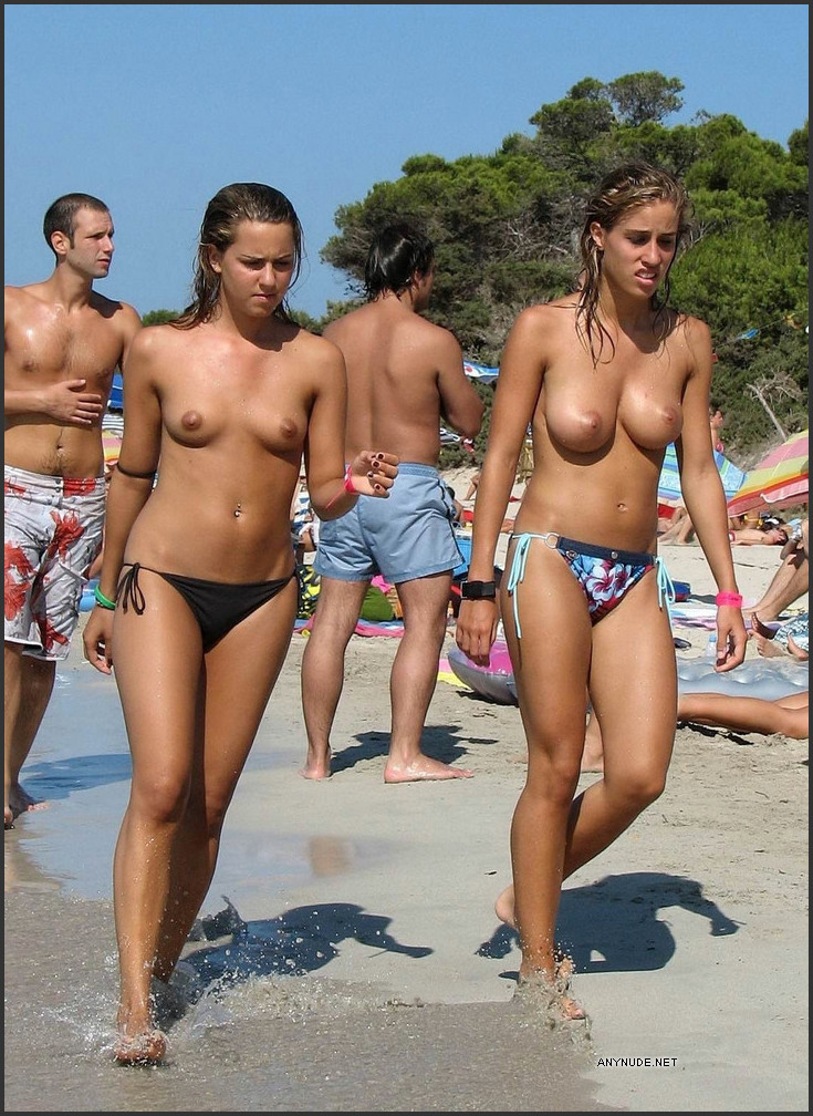 Naked girls italy beach with