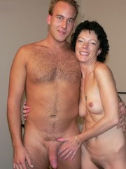 Mature couples playing naked