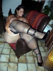 posing high heels nude mature Outdoor milf
