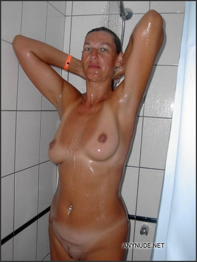 mature shower Amateur wife nude